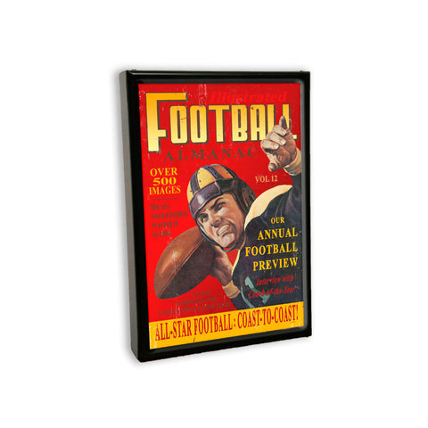 Football Almanac Metal Sign Wall Decor 12 x 18