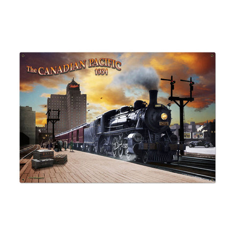 Canadian Pacific Metal Sign Wall Decor 36 x 24