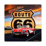 Route 66 II Metal Sign Wall Decor 18 x 18