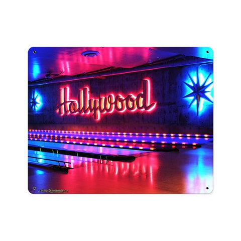 Hollywood Bowl Metal Sign Wall Decor 15 x 12