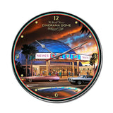 Cinerama Dome Clock Metal Sign Wall Decor 14 x 14