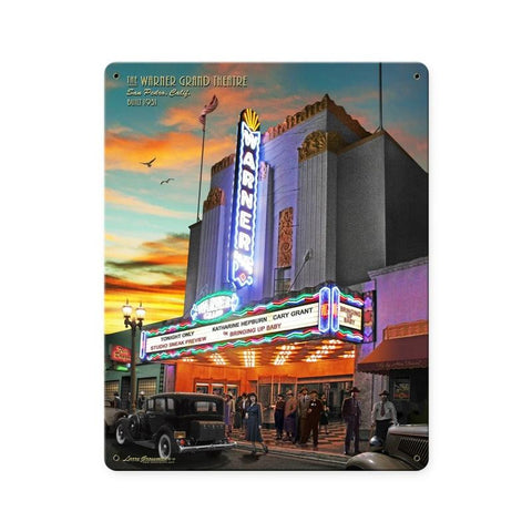 Warner Grand Theatre Metal Sign Wall Decor 12 x 15
