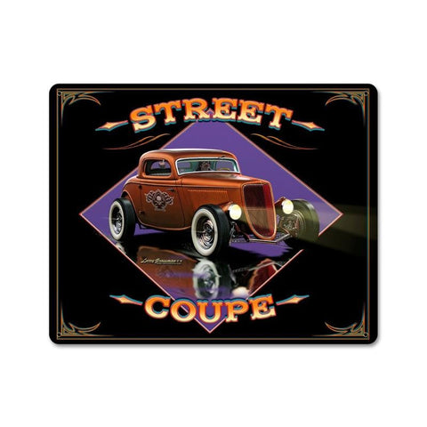 Street Coupe Vintage Metal Sign Wall Decor 15 x 12