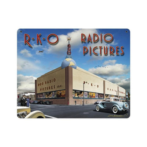 RKO Studios 2 Metal Sign Wall Decor 15 x 12