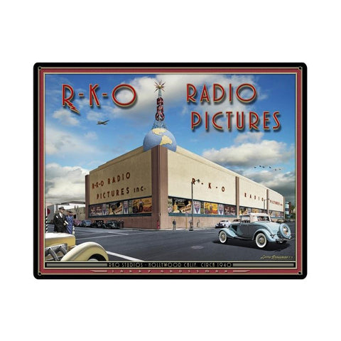 RKO Studios Metal Sign Wall Decor 30 x 24