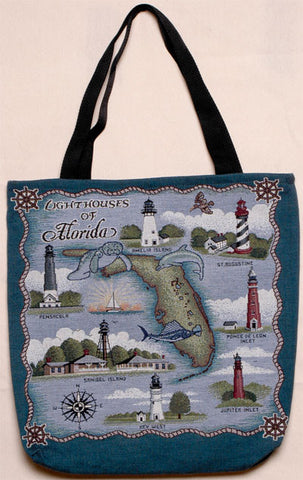 Lighthouses Of Florida Tote Bag