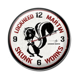 Skunk Works Clock Metal Sign Wall Decor 14 x 14