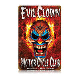 Evil Clown Metal Sign Wall Decor 12 x 18