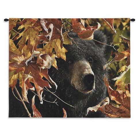 Legend Of The Fall Black Wall Tapestry With Rod