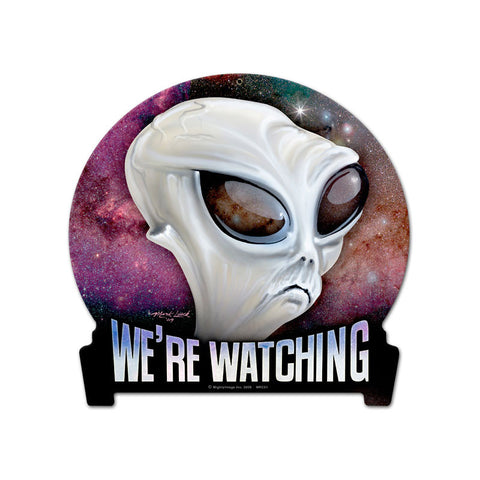 We're Watching Metal Sign Wall Decor 15 x 16