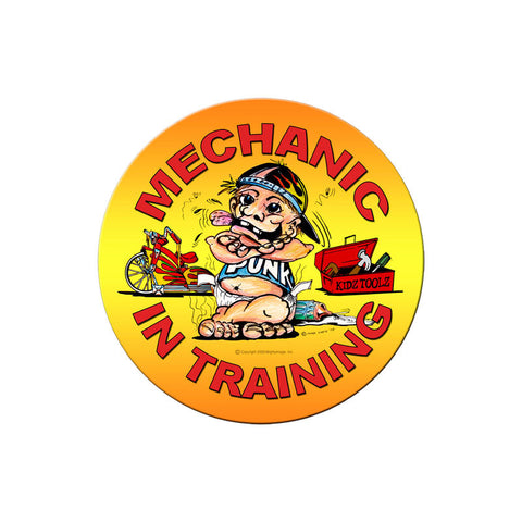 Mechanic in Training Metal Sign Wall Decor 14 x 14