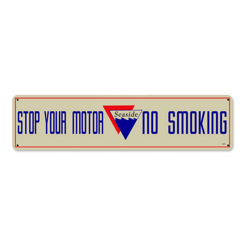 Seaside No Smoking Metal Sign Wall Decor 20 x 5