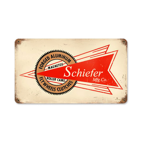Schiefer Mfg Metal Sign Wall Decor 14 x 8