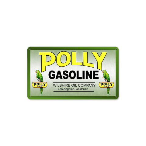 Polly Gas Metal Sign Wall Decor 14 x 8