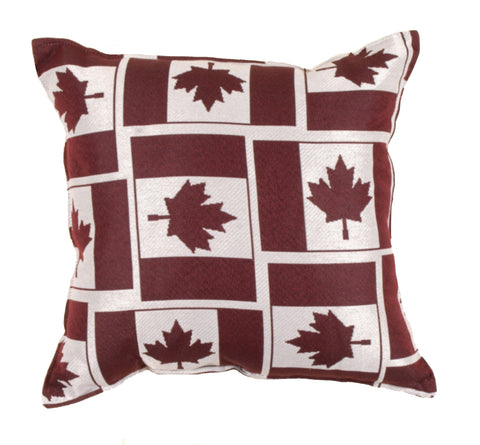 All Over Canadien Flag Outdoor Pillow