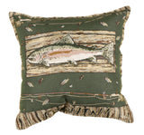 Fishin Outdoor Pillow