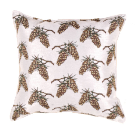 Small Pinecone Repeat Outdoor Pillow