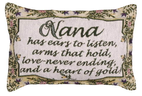 Heart Of Gold (Nana) Tapestry Pillow