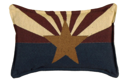 Flag Of Arizona Small Tapestry Pillow