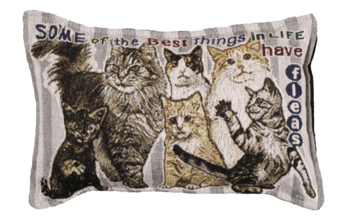 Best Thing In Life/Cat Tapestry Pillow