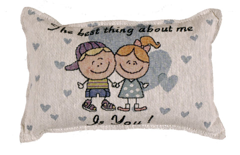 About Me Tapestry Pillow