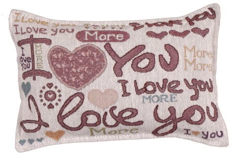 Love You More Tapestry Pillow