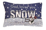Snow Much Tapestry Pillow