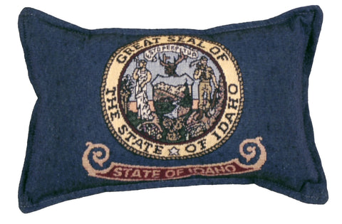 Flag Of Idaho Small Tapestry Pillow
