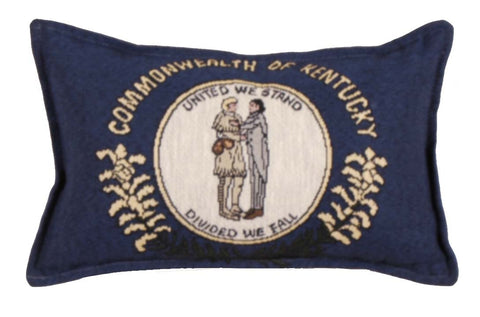 Flag Of Kentucky Small Tapestry Pillow