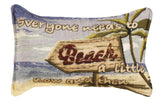Beach A Little 9 X 12 Tapestry Pillow