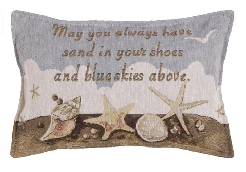 Blue Skies Tapestry Pillow