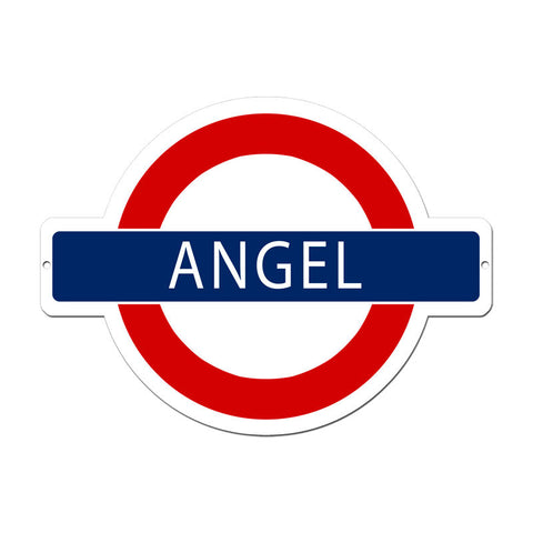 Angel Underground Metal Sign Wall Decor 21 x 16