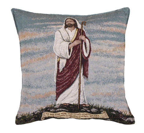 I Am The Way Tapestry Pillow