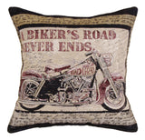 A Bikers Road Tapestry Pillow
