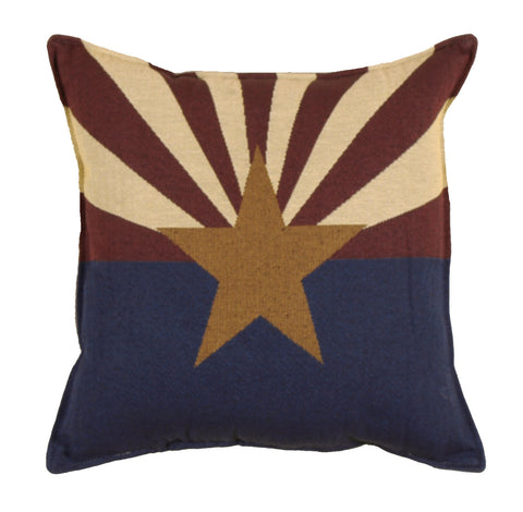 Flag Of Arizona Tapestry Pillow (Large)