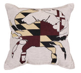 Flag Of Maryland Tapestry Pillow (Large)