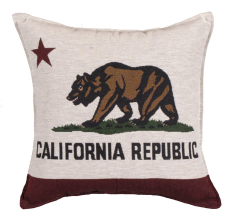 Flag Of California Tapestry Pillow (Large)