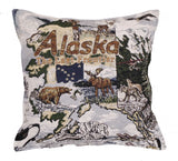 State Of Alaska Tapestry Pillow