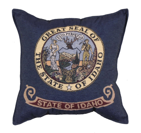 Flag Of Idaho Tapestry Pillow