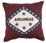 Flag Of Arkansas Tapestry Pillow