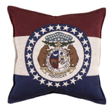 Flag Of Missouri Tapestry Pillow