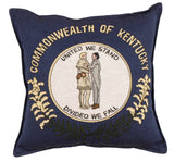 Flag Of Kentucky Tapestry Pillow