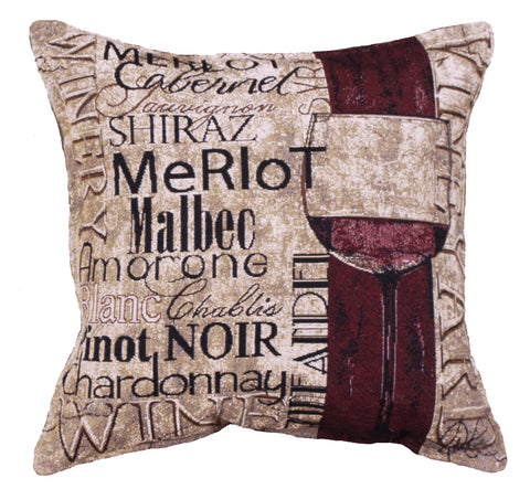 Vineyards & Wineries 18 Tapestry Pillow