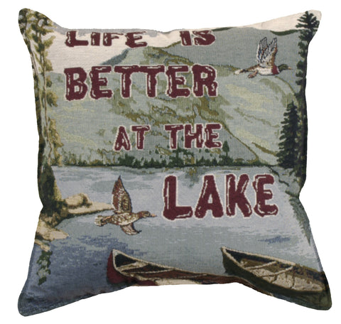 Life Is Better 18 Tapestry Pillow