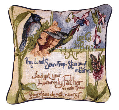 Birds Of Air 18 Tapestry Pillow