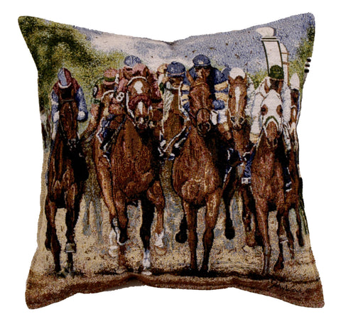 Thundering Hooves Tapestry Pillow (Ptp845)