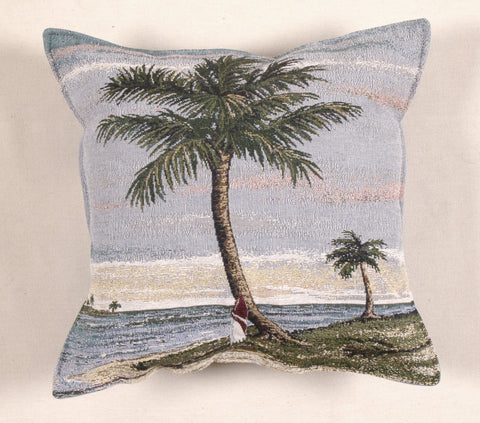 Tropical Palm Tapestry Pillow