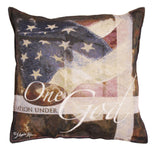 Under God/One Nation Tapestry Pillow