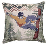 Snowboarding Tapestry Pillow