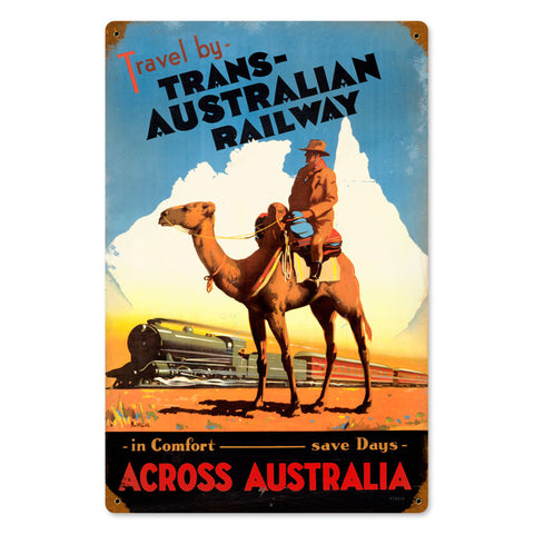 Travel Australia Metal Sign Wall Decor 12 x 18